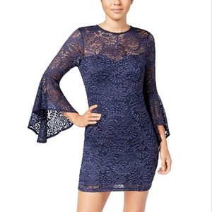 🆕️ TRIXXI | Bell-Sleeve Lace Dress